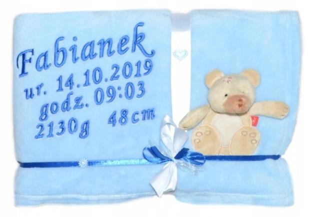 personalizowany prezent dla dziecka kocyk