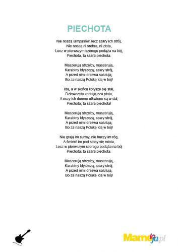 piosenki patriotyczne dla dzieci - Piechota