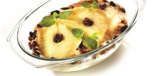 Pieczone ananasy z kremem kokosowym - przepis na deser