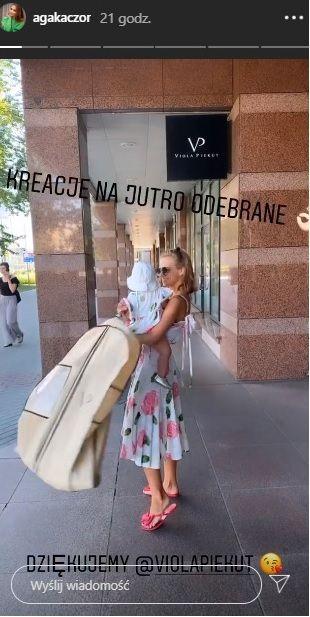 Pierwsze urodziny córki Agnieszki Kaczorowskiej