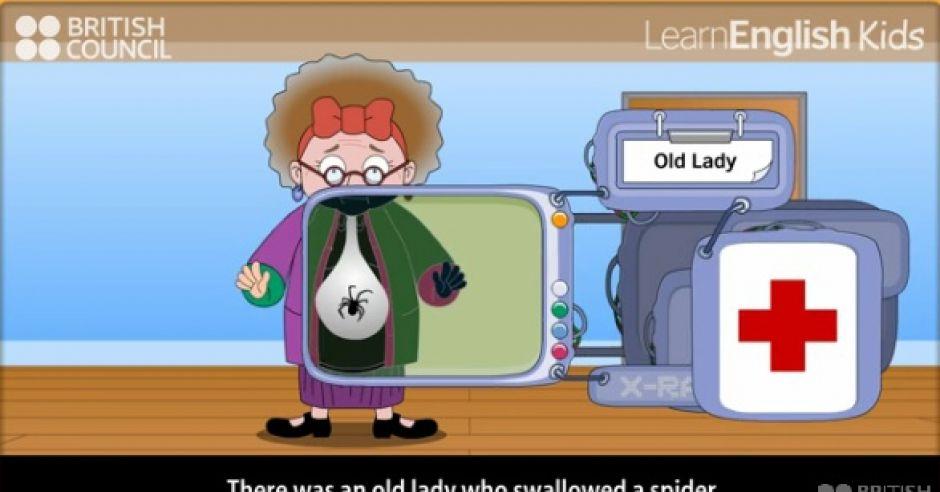 piosenka dla dzieci, angielski dla dzieci, British Council, gra online dla dzieci, An old lady