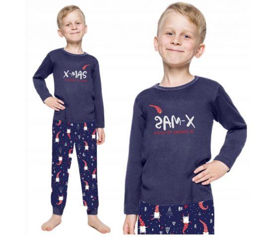 piżama świąteczna z krasnalami