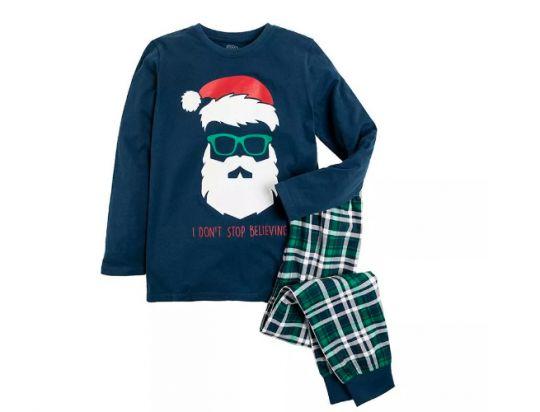 piżama z głową Mikołaja