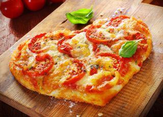 pizza, serce, danie, potrawa