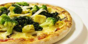 pizza, warzywa, brokuły, pizza warzywna pizza