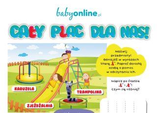 Plac zabaw – łamigłówki do druku