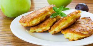 placki, jabłka, potrawa, kuchnia, jedzenie
