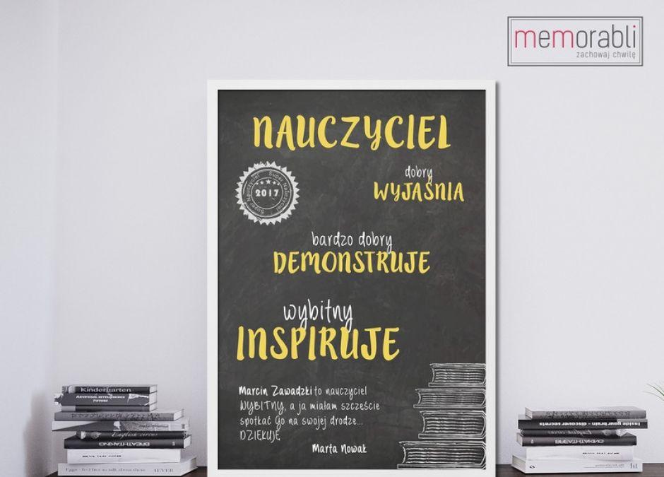 plakat dla najlepszego nauczyciela do powieszenia na ścianie dawanda.JPEG