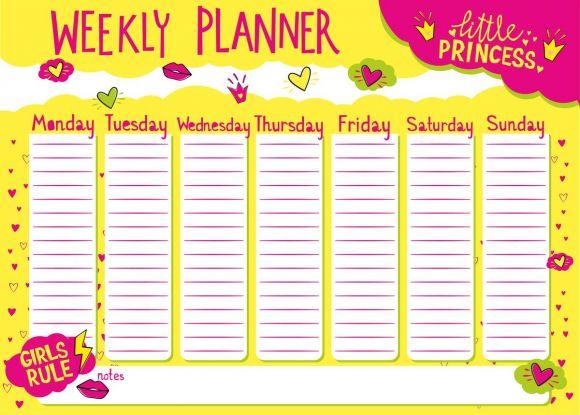plan lekcji do druku różowy