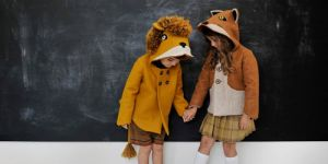 płaszcze dziecięce, płaszczyki, dzieci, lis, lew