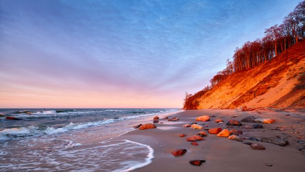 plaża na wyspie Wolin