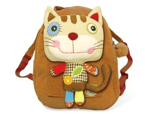 plecak dla przedszkolaka z patchworkowym kotkiem