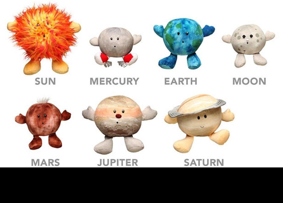 pluszowe planety, planety, planety dla dzieci, kosmiczne zabawki, zabawki z kosmosu