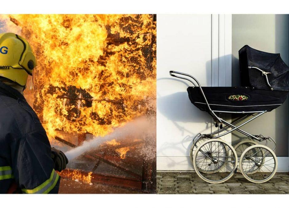 podpalenie wózka dziecięcego
