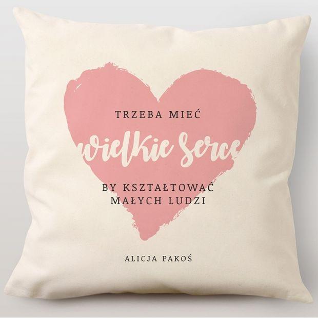 prezent dla nauczyciela przedszkola poduszka z chwytającym za serce tekstem
