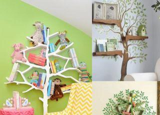 pokój z drzewem, pokój dziecka, aranżacje pokoju dziecka