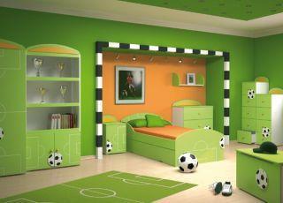 pokój dziecięcy, piłka nożna, sport