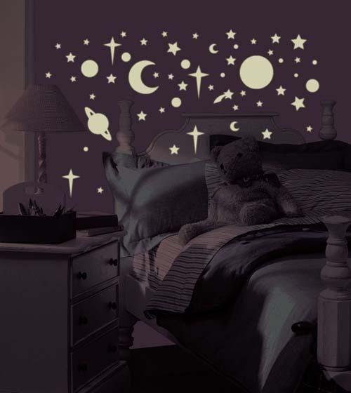 pokój dziecka, gwiazdy, kosmos