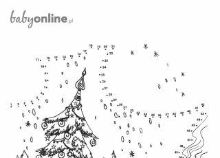Połącz kropki: zagadka-kolorowanka dla dzieci na Boże Narodzenie