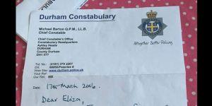 policjant pisze list do 5-latki