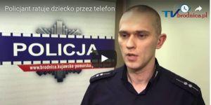 policjant z Brodnicy uratował dziecko