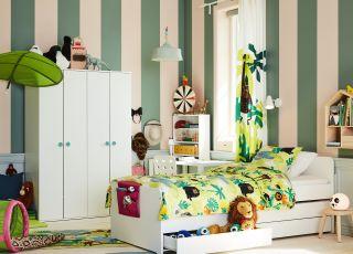 pomysły na podłogę w pokoju dziecięcym IKEA