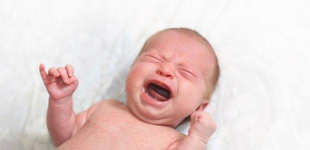 Poparzone niemowlę