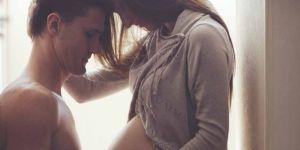 poród, ciąża, para