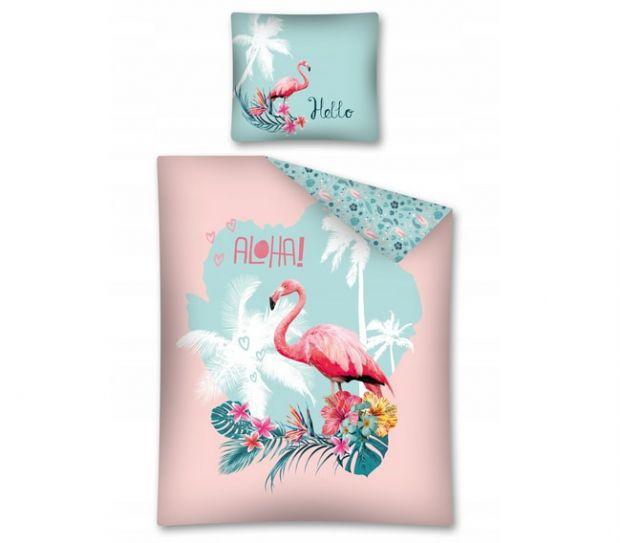 pościel do przedszkola z flamingami
