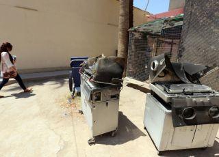 Pożar na oddziale położniczym w szpitalu w Bagdadzie