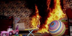 Pożar w dziecięcym pokoju