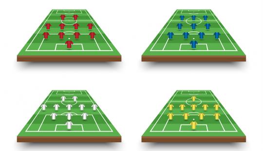 pozycje w piłce nożnej schemat