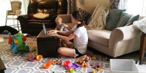 pracująca mama, praca przy dziecku