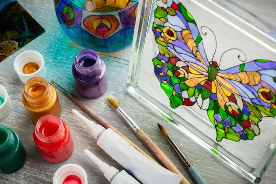 prezent dla babci DIY obraz na szkle
