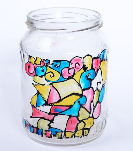 prezent dla babci DIY wazonik ze słoika