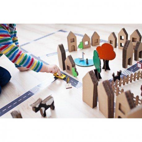 Prezent dla czterolatka, który kocha auta -  Domostrada + domki z kartonu