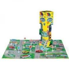 Prezent dla czterolatka, który kocha auta - Miasto ze znakami drogowymi - piankowa mata do zabawy, Molto