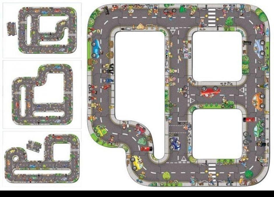 Prezent dla czterolatka, który kocha auta -  Puzzle jezdnia