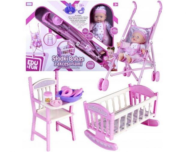 prezent dla dziewczynki lalka bobas w zestawie