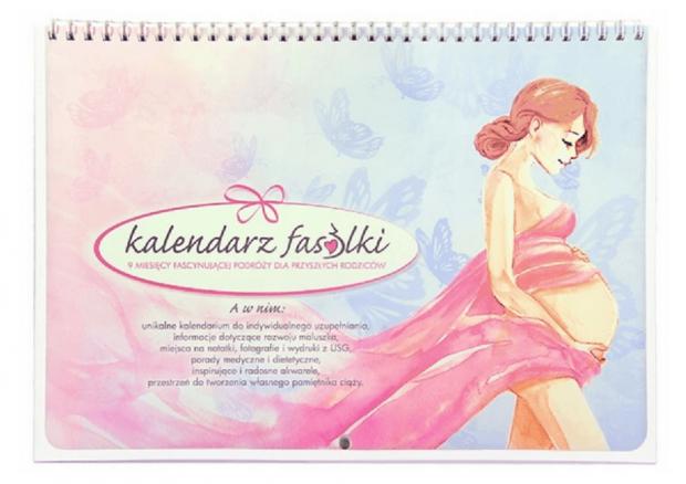 prezent dla przyszłej mamy - kalendarz