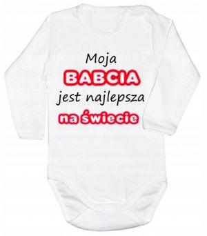 Prezent dla babci od niemowlaka: body niemowlęce z dedykacją