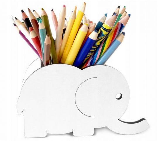 Organizer na kredki w kształcie słonia