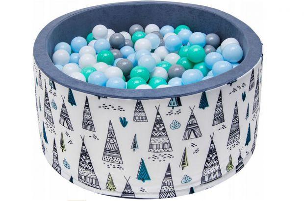 prezent na roczek dla chłopca suchy basen z piłeczkami