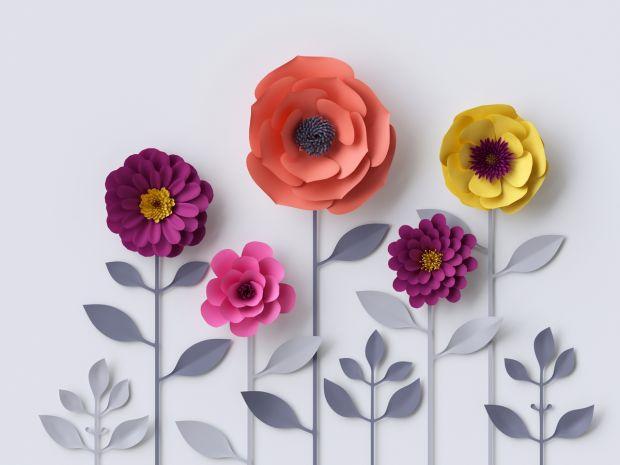 Prezenty dla dziadków - papierowe kwiatki
