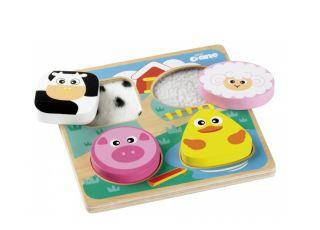 Prezenty świąteczne dla małego dziecka - puzzle dotknij i poczuj