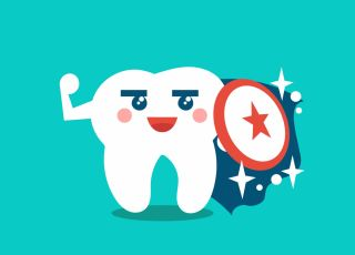 próchnica u dzieci, zeby mleczne, zdrowe zęby niemowlaka