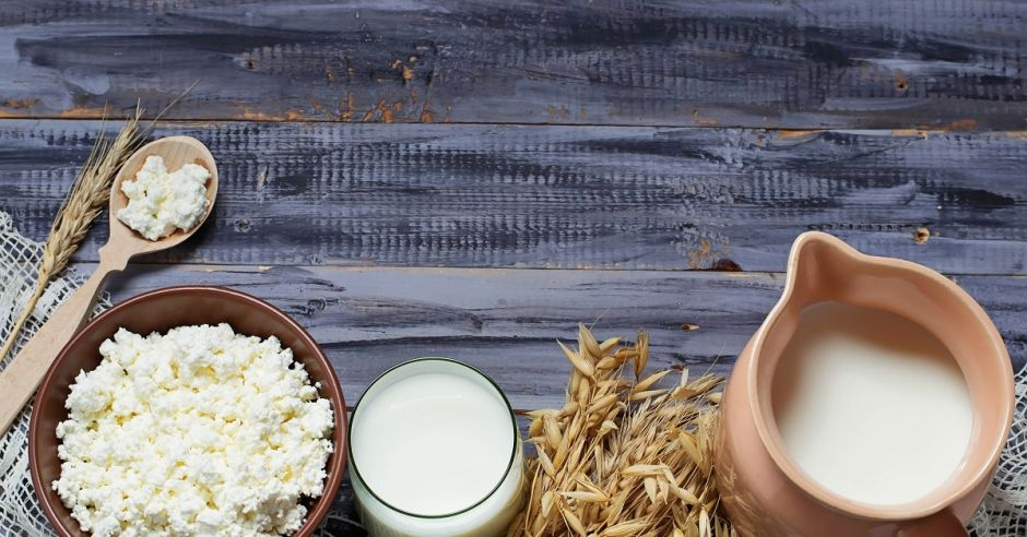 Produkty mleczne, mleko, ser, zboże, wapń