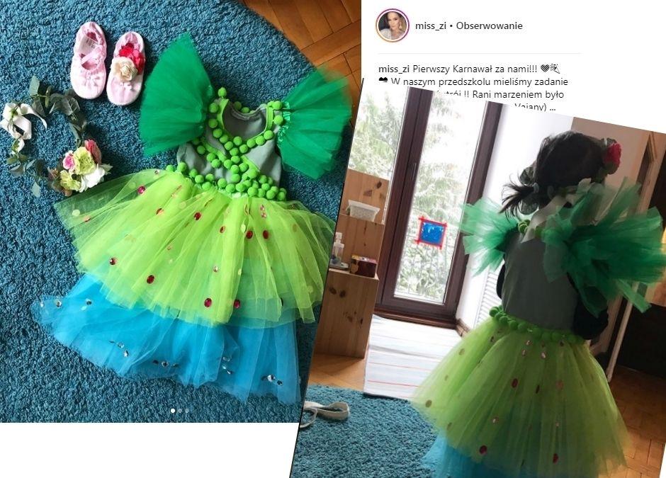 Sukienka tiulowa DIY córeczki Zosi Ślotały