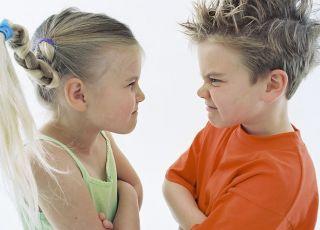 przedszkolak, chłopiec, dziewczynka, bunt, złość, gniewać się