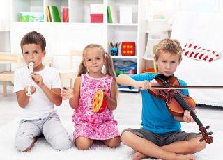 Przedszkolaki, dzieci, instrumenty